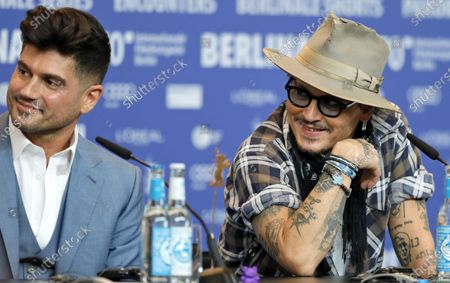 Andrew Levitas and US actor Johnny Depp attend the 'Minamata' press conference during the 70th annual Berlin International Film Festival (Berlinale), in Berlin, Germany, 21 February 2020. The movie is presented in the Berlinale Special section at the Berlinale that runs from 20 February to 01 March 2020.