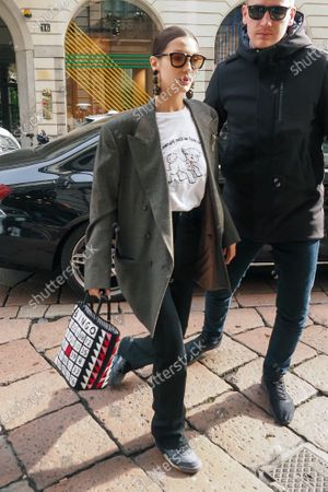 Editorial picture of Bella Hadid out and about, Milan Fashion Week, Italy - 21 Feb 2020