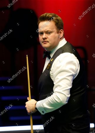 26th February 2020; Waterfront, Southport, Merseyside, England; World Snooker Championship, Coral Players Championship; Shaun Murphy (ENG) walks away from the table during his first round match against David Gilbert (ENG)