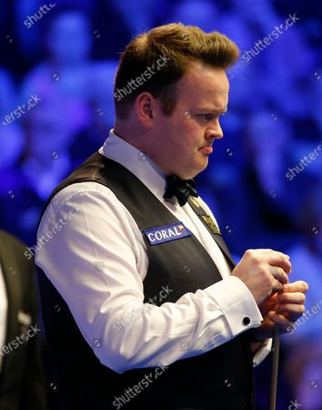 26th February 2020; Waterfront, Southport, Merseyside, England; World Snooker Championship, Coral Players Championship; Shaun Murphy (ENG) prepares to play his shot during his first round match against David Gilbert (ENG)