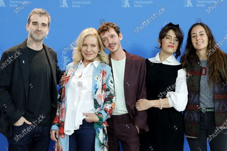 Daniel Hendler, Cecilia Roth, Nahuel Perez Biscayart, Erica Rivas and Natalia Meta pose during the 'El Profugo' (The Intruder) photocall during the 70th annual Berlin International Film Festival (Berlinale), in Berlin, Germany, 21 February 2020. The movie is presented in the Official Competition at the Berlinale that runs from 20 February to 01 March 2020.