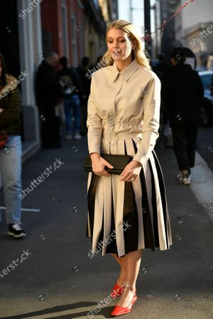 Editorial photo of Street style, Fall Winter 2020, Milan Fashion Week, Italy - 21 Feb 2020