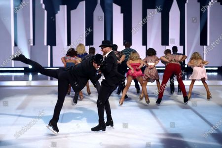Stock Photo of Movie Medley - Dan Whiston, Lukasz Rozycki and professional skaters