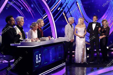 Ashley Banjo, John Barrowman, Jayne Torvill, Christopher Dean, Phillip Schofield, Holly Willoughby, Joe Swash and Alex Murphy