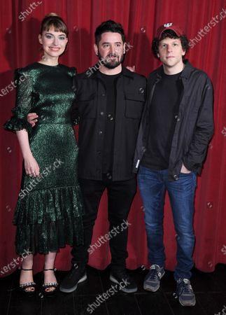 Imogen Poots, Lorcan Finnegan and Jesse Eisenberg