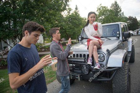 Noah Centineo as Peter, Israel Broussard as Josh and Lana Condor as Lara Jean