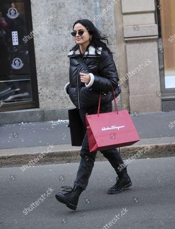 Camila Mendes leaves the Salvatore Ferragamo boutique