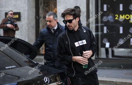 Camila Mendes' boyfriend leave the Salvatore Ferragamo boutique