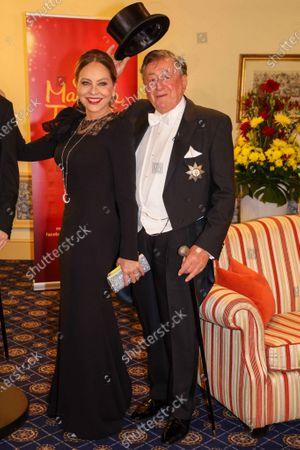Stock Picture of Richard Lugner and Ornella Muti