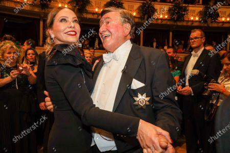 Richard Lugner and Ornella Muti
