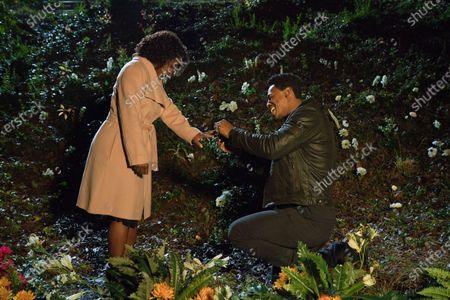 Crystal Fox as Grace and Mehcad Brooks as Shannon