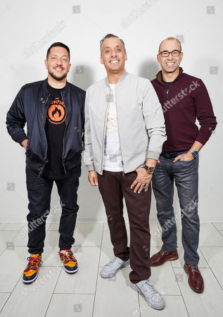 "Stock Photo of Sal Vulcano, Joe Gatto, James Murray. The Impractical Jokers, Sal Vulcano, from left, Joe Gatto, and James Murray, pose for a portrait in New York, on. ""Impractical Jokers: The Movie"" releases in the U.S. on Friday"