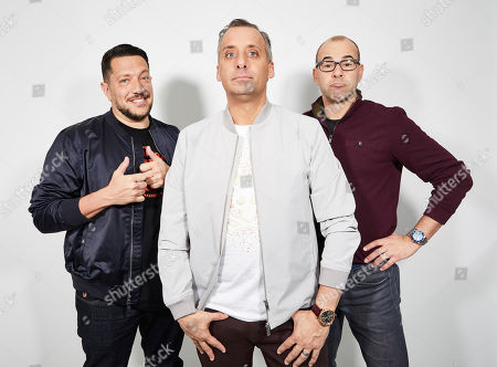 "Sal Vulcano, Joe Gatto, James Murray. The Impractical Jokers, Sal Vulcano, from left, Joe Gatto, and James Murray, pose for a portrait in New York, on. ""Impractical Jokers: The Movie"" releases in the U.S. on Friday"