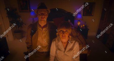 Josh Margolin as Detective Cross and Stephanie Drake as Dr. Bunny