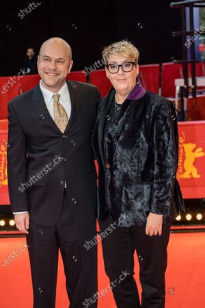Dan Scanlon (L) and producer Kori Rae (R) arrive for the premiere of 'Onward' during the 70th annual Berlin International Film Festival (Berlinale), in Berlin, Germany, 21 February 2020. The movie is presented in the Berlinale Special section at the Berlinale that runs from 20 February to 01 March 2020.