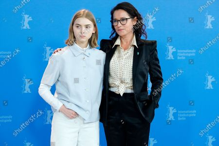 Sidse Babett Knudsen (R) and Danish actress Sandra Guldberg Kampp pose during the 'Kod and Blod (Wildland)' photocall during the 70th annual Berlin International Film Festival (Berlinale), in Berlin, Germany, 21 February 2020. The movie is presented in the Panorama section at the Berlinale that runs from 20 February to 01 March 2020.