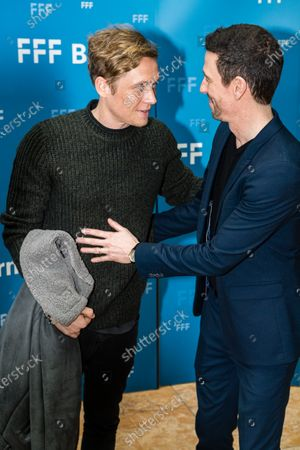 Stock Photo of Matthias Schweighoefer (L) and German film producer Oliver Berben attend the 'FFF Bayern reception' during the 70th annual Berlin International Film Festival (Berlinale), in Berlin, Germany, 21 February 2020. The Berlinale runs from 20 February to 01 March 2020.