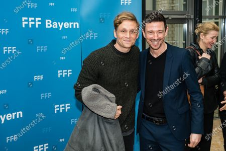 Stock Picture of Matthias Schweighoefer (L) and German film producer Oliver Berben attend the 'FFF Bayern reception' during the 70th annual Berlin International Film Festival (Berlinale), in Berlin, Germany, 21 February 2020. The Berlinale runs from 20 February to 01 March 2020.