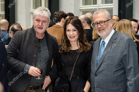 Detlev Buck, German actress Iris Berben and German film producer Martin Moszkowicz attend the FFF Bayern reception' during the 70th annual Berlin International Film Festival (Berlinale), in Berlin, Germany, 21 February 2020. The Berlinale runs from 20 February to 01 March 2020.