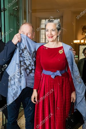 Stock Image of Burghart Klaussner (L) and German-Austrian actress Irina Wanka attend the 'FFF Bayern reception' during the 70th annual Berlin International Film Festival (Berlinale), in Berlin, Germany, 21 February 2020. The Berlinale runs from 20 February to 01 March 2020.