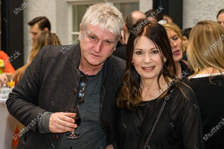Iris Berben and german actor and director Detlef Buck, attend the FFF Bayern reception' during the 70th annual Berlin International Film Festival (Berlinale), in Berlin, Germany, and the 21 February 2020. The Berlinale runs from 20 February to 01 March 2020.