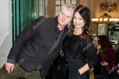 Stock Image of Iris Berben and german actor and director Detlef Buck, attend the FFF Bayern reception' during the 70th annual Berlin International Film Festival (Berlinale), in Berlin, Germany, and the 21 February 2020. The Berlinale runs from 20 February to 01 March 2020.