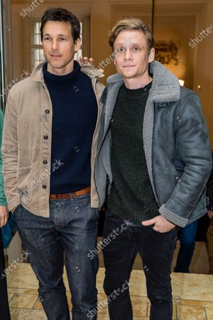 Matthias Schweighoefer (R) and Florian David Fitz attend the 'FFF Bayern reception' during the 70th annual Berlin International Film Festival (Berlinale), in Berlin, Germany, 21 February 2020. The Berlinale runs from 20 February to 01 March 2020.