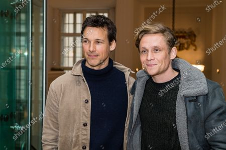 Stock Picture of Matthias Schweighoefer (R) and Florian David Fitz attend the 'FFF Bayern reception' during the 70th annual Berlin International Film Festival (Berlinale), in Berlin, Germany, 21 February 2020. The Berlinale runs from 20 February to 01 March 2020.