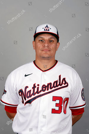 Stock Image of This is a 2020 photo of David Hernandez of the Washington Nationals baseball team. This image reflects the Nationals active roster as of, when this image was taken