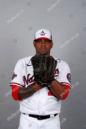 Stock Picture of This is a 2020 photo of Roenis Elias of the Washington Nationals baseball team. This image reflects the Nationals active roster as of, when this image was taken