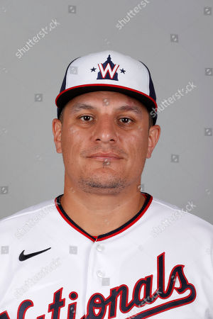 Stock Photo of This is a 2020 photo of David Hernandez of the Washington Nationals baseball team. This image reflects the Nationals active roster as of, when this image was taken