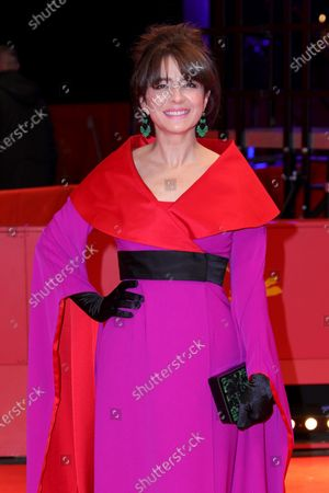 Erica Rivas arrives for the premiere of 'El Profugo (The Intruder)' during the 70th annual Berlin International Film Festival (Berlinale), in Berlin, Germany, 21 February 2020. The movie is presented in the Official Competition at the Berlinale that runs from 20 February to 01 March 2020.