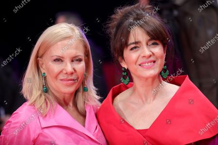 Erica Rivas (R) and Cecilia Roth arrive for the premiere of 'El Profugo (The Intruder)' during the 70th annual Berlin International Film Festival (Berlinale), in Berlin, Germany, 21 February 2020. The movie is presented in the Official Competition at the Berlinale that runs from 20 February to 01 March 2020.