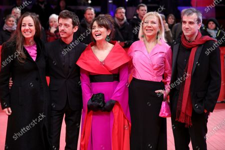 Director Natalia Meta, Nahuel Pérez Biscayart, Erica Rivas, Cecilia Roth and Daniel Hendler arrive for the premiere of 'El Profugo (The Intruder)' during the 70th annual Berlin International Film Festival (Berlinale), in Berlin, Germany, 21 February 2020. The movie is presented in the Official Competition at the Berlinale that runs from 20 February to 01 March 2020.
