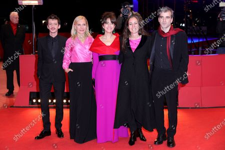 Nahuel Pérez Biscayart, Cecilia Roth, Erica Rivas, Director Natalia Meta and Daniel Hendler arrive for the premiere of 'El Profugo (The Intruder)' during the 70th annual Berlin International Film Festival (Berlinale), in Berlin, Germany, 21 February 2020. The movie is presented in the Official Competition at the Berlinale that runs from 20 February to 01 March 2020.