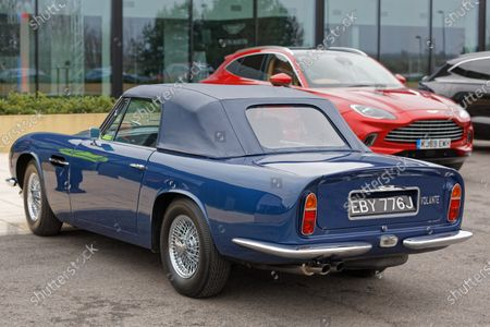 Stock Image of The 1960 Aston Martin DB6 Volante owned by Prince Charles