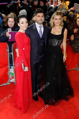 Katherine Jenkins (R), Andrew Levitas (C) and Minami (L) arrive for the premiere of 'Minamata' during the 70th annual Berlin International Film Festival (Berlinale), in Berlin, Germany, 21 February 2020. The movie is presented in the Berlinale Special section at the Berlinale that runs from 20 February to 01 March 2020.