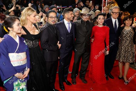 Akiko Iwase, Katherine Jenkins, Hiroyuki Sanada, Andrew Levitas, Johnny Depp, Minami, Bill Nighy and Aileen Mioko Smith arrive for the premiere of 'Minamata' during the 70th annual Berlin International Film Festival (Berlinale), in Berlin, Germany, 21 February 2020. The movie is presented in the Berlinale Special section at the Berlinale that runs from 20 February to 01 March 2020.