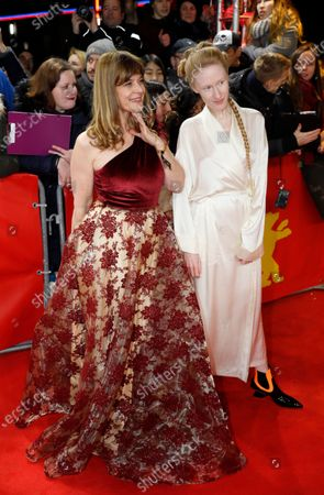 Nastassja Kinski (L) and guest arrive for the premiere of 'Minamata' during the 70th annual Berlin International Film Festival (Berlinale), in Berlin, Germany, 21 February 2020. The movie is presented in the Berlinale Special section at the Berlinale that runs from 20 February to 01 March 2020.
