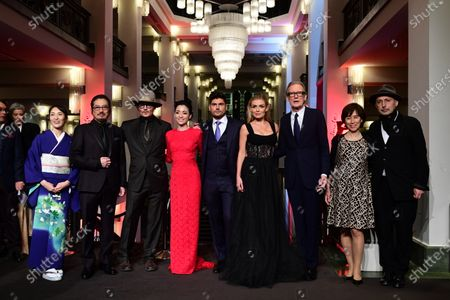 Akiko Iwase, Hiroyuki Sanada, Johnny Depp, Minami, Andrew Levitas, Katherine Jenkins, Bill Nighy, Aileen Mioko Smith, and Benoit Delhomme arrive for the premiere of 'Minamata' during the 70th annual Berlin International Film Festival (Berlinale), in Berlin, Germany, 21 February 2020. The movie is presented in the Berlinale Special section at the Berlinale that runs from 20 February to 01 March 2020.