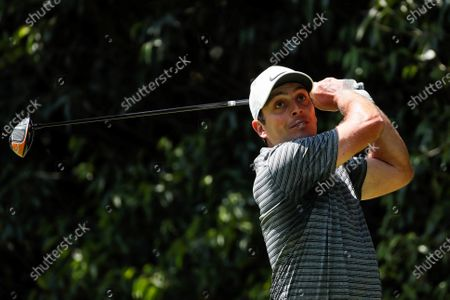 Stock Photo of Francesco Molinari of Italy hits the ball during the second round of the WGC Mexico Championship, held at the Chapultepec Golf Club in Mexico City, Mexico, 21 February 2020.