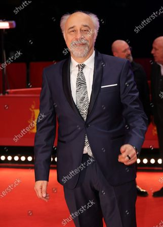 Giorgio Diritti arrives for the premiere of 'Volevo Nascondermi (Hidden Away)' during the 70th annual Berlin International Film Festival (Berlinale), in Berlin, Germany, 21 February 2020. The movie is presented in the Official Competition at the Berlinale that runs from 20 February to 01 March 2020.
