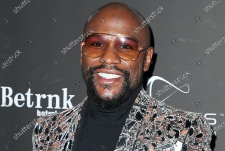 Editorial photo of Floyd Mayweather's 43rd Birthday Celebration, Arrivals, Sunset Eden, Los Angeles, USA - 21 Feb 2020