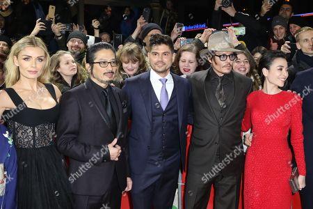 Katherine Jenkins, Hiroyuki Sanada, Andrew Levitas, Johnny Depp and Minami Hinase