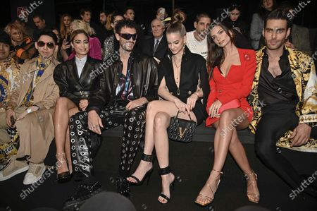 Editorial photo of Versace show, Front Row, Fall Winter 2020, Milan Fashion Week, Italy - 21 Feb 2020