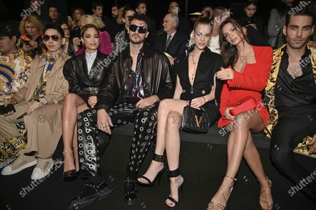 Editorial picture of Versace show, Front Row, Fall Winter 2020, Milan Fashion Week, Italy - 21 Feb 2020