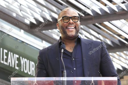 Tyler Perry at a ceremony honoring Dr. Phil with the 2688th star on the Hollywood Walk of Fame in Los Angeles, California, USA, 21 February 2020. The star is dedicated in the category of Television.