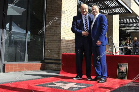 Stock Image of Dr. Phil McGraw (L) and son Jay McGraw at a ceremony honoring Dr. Phil with the 2688th star on the Hollywood Walk of Fame in Los Angeles, California, USA, 21 February 2020. The star is dedicated in the category of Television.