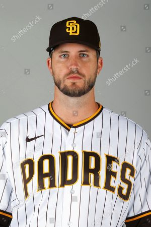 This is a 2020 photo of Drew Pomeranz of the San Diego Padres baseball team. This image reflects the Padres active roster as of when this image was taken