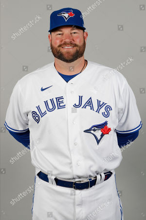 This is a 2020 photo of John Schneider of the Toronto Blue Jays baseball team. This image reflects the Blue Jays active roster as of, when this image was taken